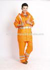 OEM factory adult outdoor waterproof raincoat rainsuit reflective 3m tape breathable bicycle, motorcycle