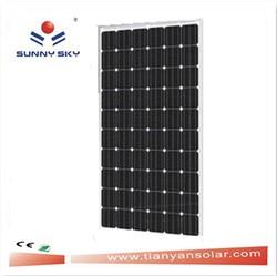250 watt mono crystalline solar panels/lowest price solar panel with price per watt solar panels TYM-250