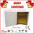 2014 industrial automática incubadora de ovos com ce aprovou para venda
