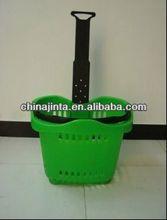plastic Plastic laundry basket handling plastic shopping basket