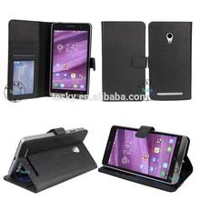 factory direct sale flip leather case for asus zenfone 6