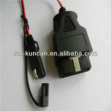 obd2 connection cable obd 2 connection interface to DC5.5*2.1/SAE/alligator/rj45/USB connector szkuncan
