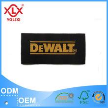 custom high brightness woven label jeans label bag label manufacturer