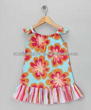 Venta al por mayor de encargo azul hawaiano angel- manga vestido casual niño-& baby girls