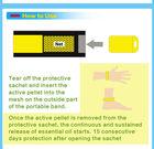 2014 cheapest neoprene mosquito repellent bracelet with refill pellet