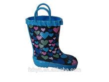 Cute heart Kids Rubber Long Boot