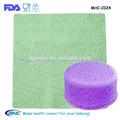 De calidad alimentaria alfombra de impresión, de silicona en relieve huella fondant esteras/alfombrillas