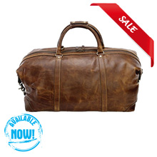 High quality Retro style genuine Leather duffel bag,mid-size luggage man's travel bags