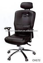 New Black Modern Ergonomic Ribbed High Back Executive Computer Desk Office Chair