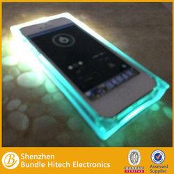 New Arrival fashion ice cube design transparent led flash luminous case for iPhone 5 5S