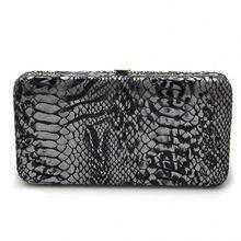 Loop ladies metallic clutch wallet Frame Snap Closure