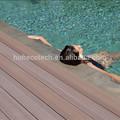 Piso impermeável ao redor da piscina, wpc decking piscina