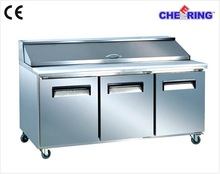 guangzhou manufacturer restuarant equipment pizza prep table refrigerator/commercial table refrigerator/bench refrigerator