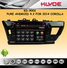 Pure Android 4.2 RK3066 1.6GHz Cortex A9 dual-core car dvd player for toyota corolla 2014