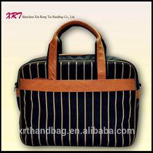 Nylon Men Laptop Handbag with Geniune Leather Handle