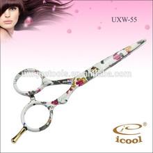 Icool UXW-55 salão de beleza tesoura tatuagens de tesouras do cabelo
