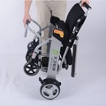 El poder de aluminio silla de ruedas, plegable silla de ruedas eléctrica, el motor eléctrico alimentado sillas de ruedas para desactivar el