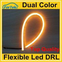 super bright flexible led drl/daytime running light dual color 45cm/60cm/85cm for angel eye