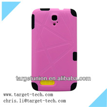 Fashion Silicon pink black and white back case wholesale for Alcatel 8008