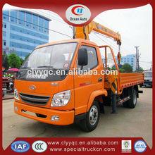 3.2 ton MIni lorry crane, lifting rack cylinder crane truck, truck loader crane