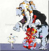 2014 New Modern Animal elephant Oil Painting HF-1404181