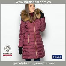 2014 New Women's Fur Collar long women's winter Red down coats
