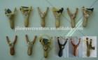 2014 newest design wood craft animal shaped with cute design for kids wooden slingshot