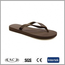 Solid brown color proxy arabic ladies design leather sandals sole pu flip flop slipper for men