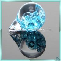 Hot Sale 3D Floating CZ magnifying glass Aqua vial pendant