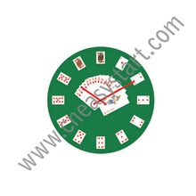 Hot melting glass clock