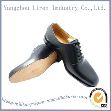 2014 Hot style black police men genuine leather dress shoes