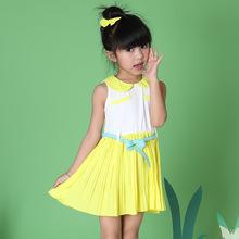 Children Summer dress, kids clothes girl's Casual Princess dress kids high end cotton wear Age 3-7 years