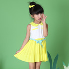 Children Summer dress, kids clothes girl's Casual Princess dress kids high end cotton wear Age 3-7 years