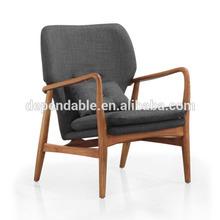 560 antique wood fabric cushion chair