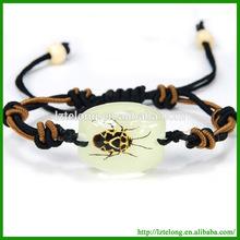 wholesale real insect implant eco-friendly acrylic animal bracelet