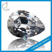 rough pear shape uncut white gemstones glass