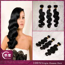 Body wave unprocessed 100% virgin crochet brazilian grade aaaaa human sew in hair extensions for african american black women