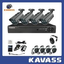 KAVASS 4CH DVR HDMI 800TVL Surveillance CCTV Video Home Security Camera System(CLG-4C800A)