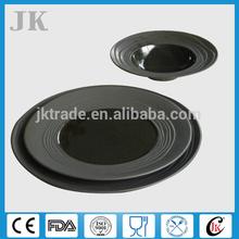 Black Porcelain Dinner Set