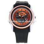 2014 best selling digital quartz watch leisure waterproof sports watch alloy watch case