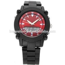 2014 fashion dual display wrist watch ,wristwatch, japan movt quartz watch stainless steel back