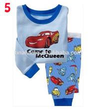 Cartoon car party, children's pajamas, boy's pajamas