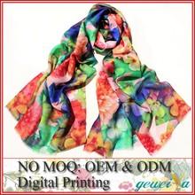 No MOQ Custom Digital Printing Polyester Scarf