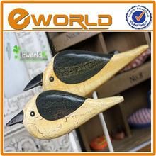 cosecha de promoción decorativos de arte mentes artesanías de madera coulp la figura del pájaro
