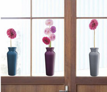 New Design Custom Made Vase Shape Window Static Sticker Without Glue,Wall Decal for Decoration