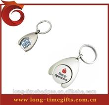 2014 custom hot sell trolley token keychain/ metal keychain/ custom keychain