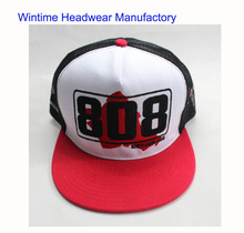 New style cotton front trucker mesh cap with flat brim