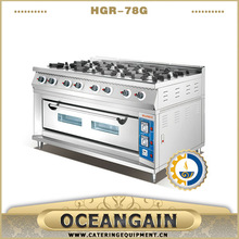 HGR-78G Commercial 8 burner Gas Cooking Range with Gas Oven