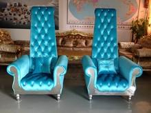 High quality cheap waiting chair white wedding chair