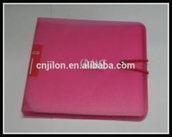 New arrival Portable Plastic 12 Disc CD DVD Wallet Storage Organizer Bag Case